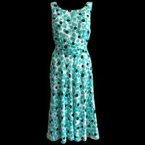 Pendleton Aqua Polka Dot Swing Dress 12